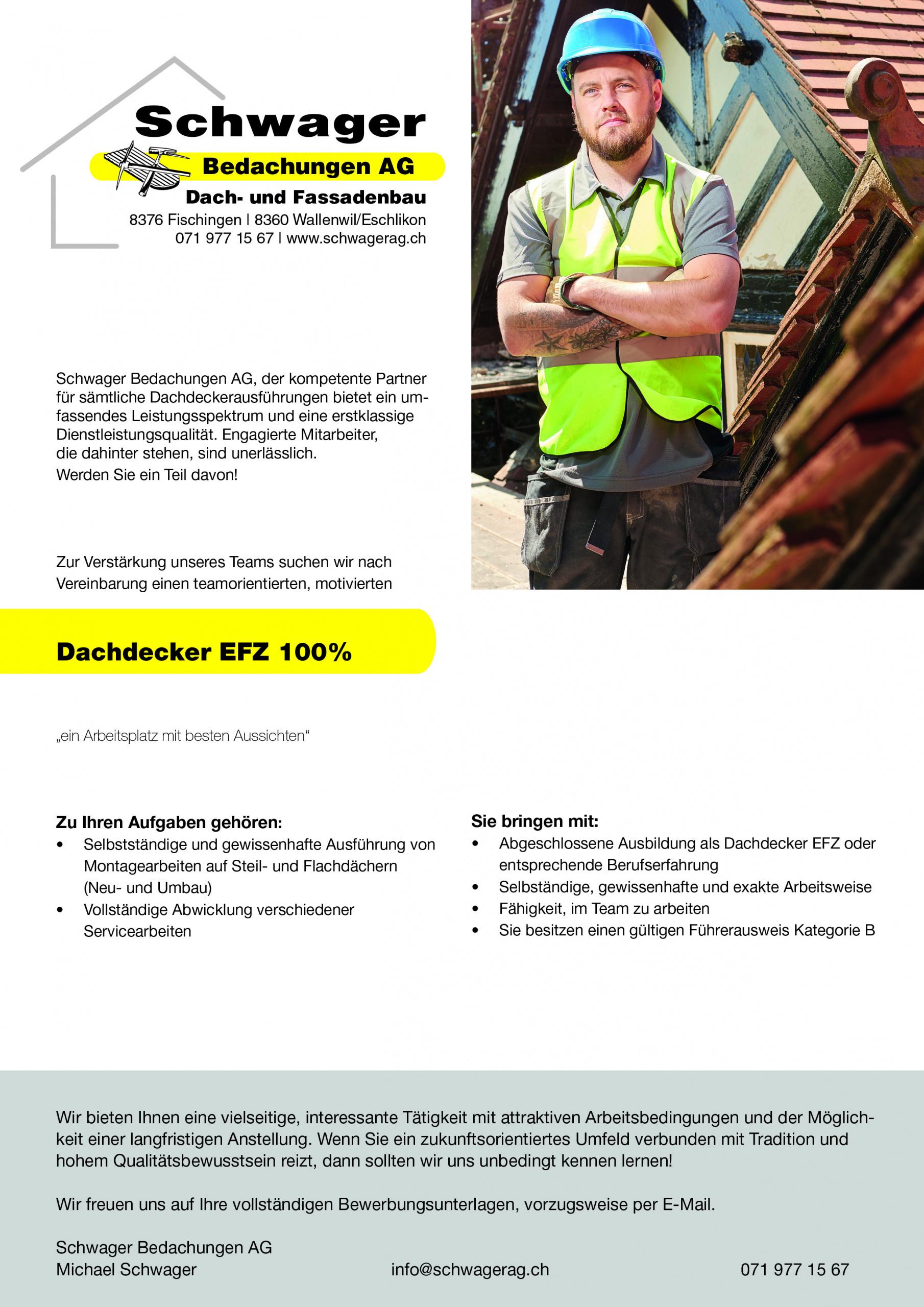 Schwager Dachbau und Fassadenbau Team